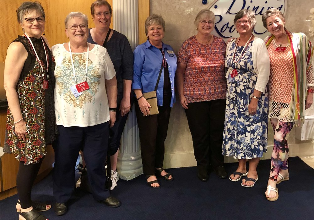 A heartfelt thank you to Diane Biel (blue shirt- center) for all of her coordination and hard work and making this Education Opportunities event move from a dream to a reality.
