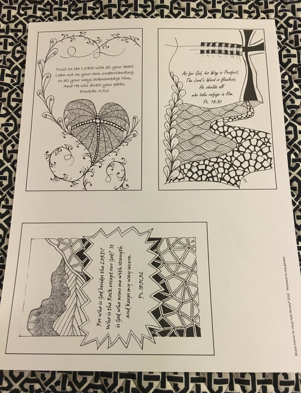 Carla creates tangle Bible verse cards that we are calling Versicles for Visual Faith Ministry. A Versicle is a short sentence or verse said or sung- with a following response. These prayer cards are the invitation and your time in praying over the verse and /or coloring - is the response.