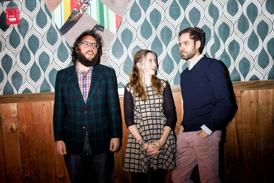 co-founders and artistic directors:Judd Greenstein, Sarah Kirkland Snider, and William Brittelle