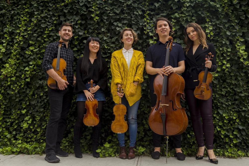 Caroline Shaw + Attacca Quartet photo by Jorsand Diaz
