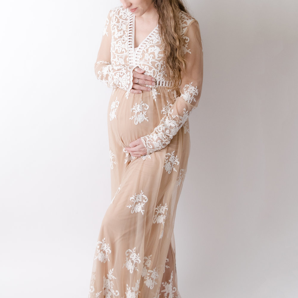 Beverly Gown - Rent for $30*medium (does not stretch)sheer with nude liningfloor length