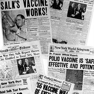 RESEARCH THE POLIO VIRUS AND SALK'S VACCINE -