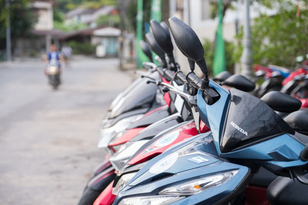 Line-up of Scooters