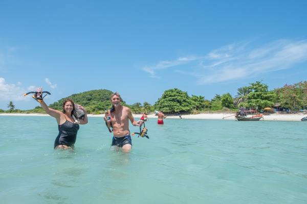 Richard and Mandy at Koh Matsum