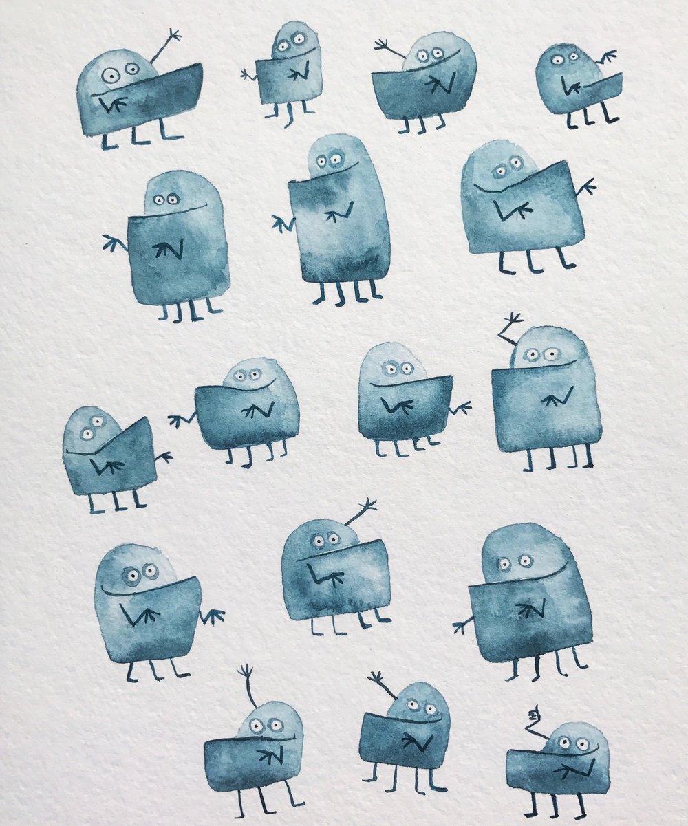 Blue Underbite Monsters