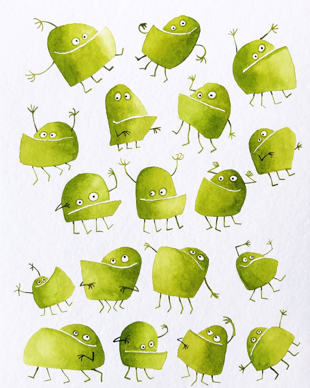 Underbite monsters green