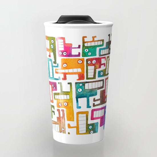 Tetris Monsters Travel Mug