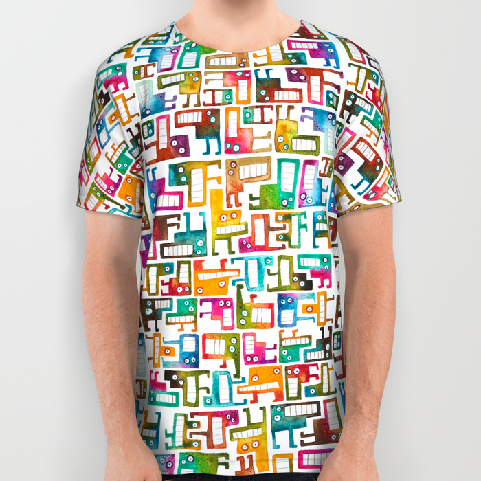 Tetris Monsters All Over Print