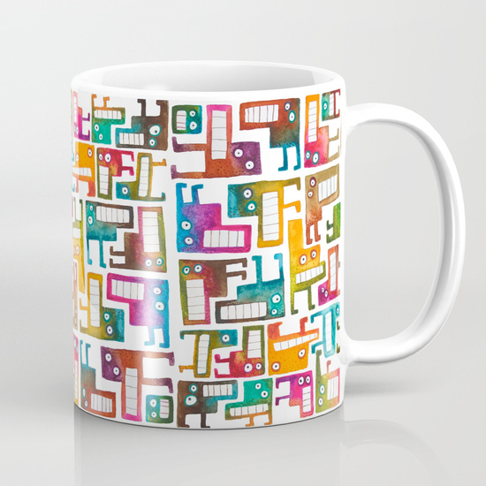 Tetris Monsters Mug