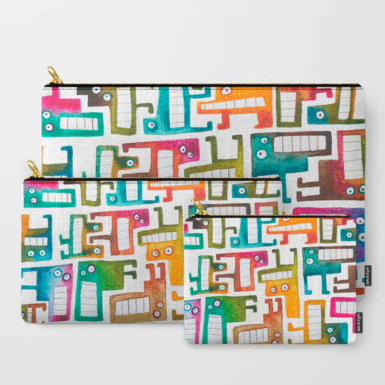 Tetris Monsters Carry-All Pouches