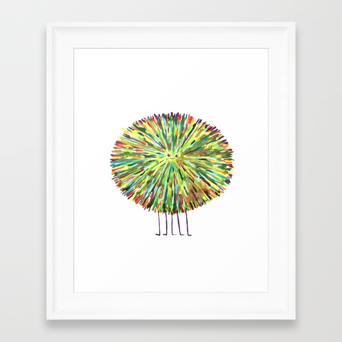 Poofy Splotch Framed Print