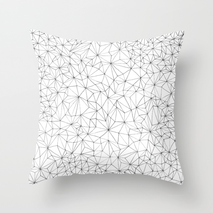 Geometric Line Art Design Throw Pillow