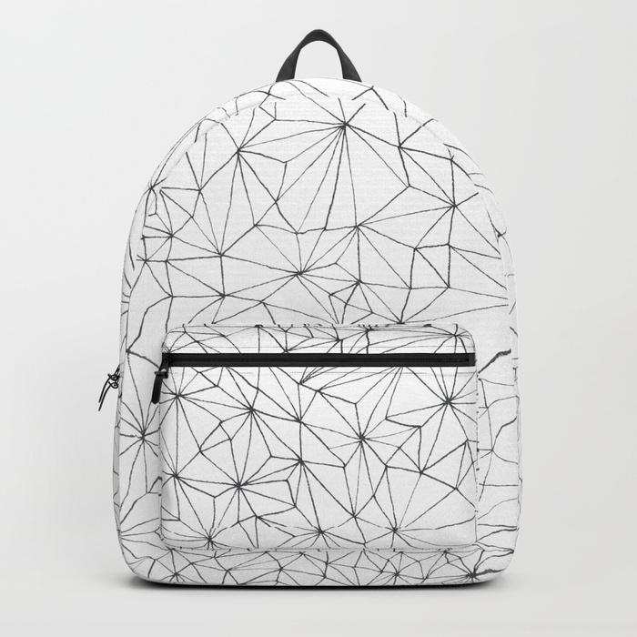 Geometric Line Art Design Backpack