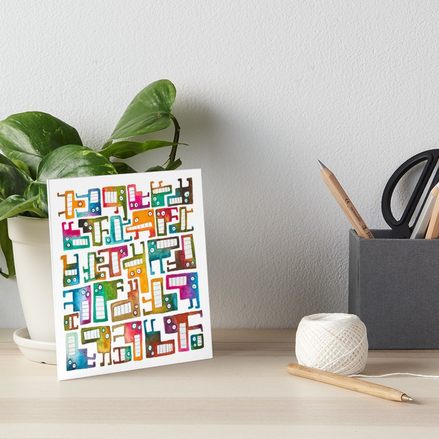 Tetris Monsters Art Board