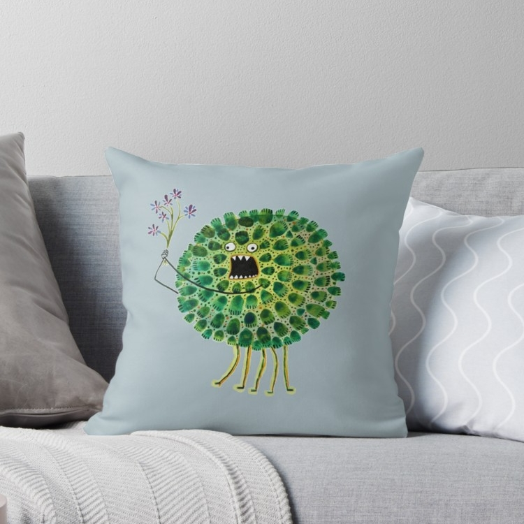 Poofy Plactus Throw Pillow