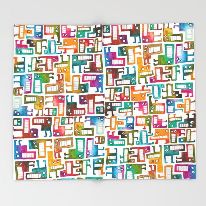 Tetris Monsters Throw Blanket