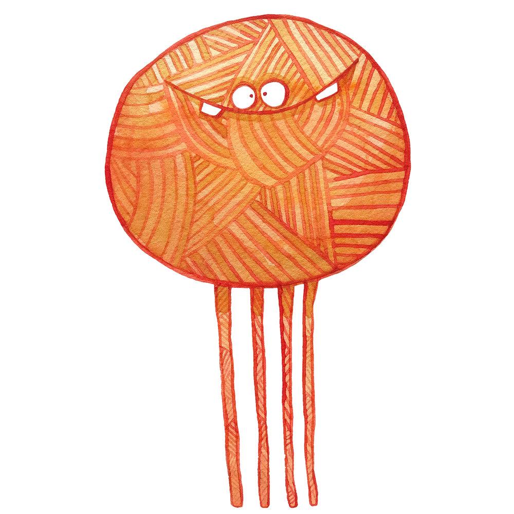 Poofy Orange Yarn
