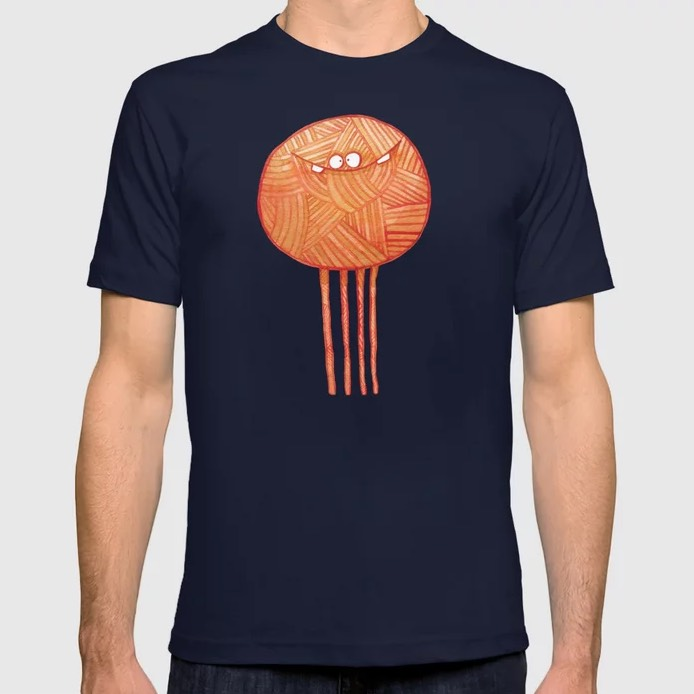 Poofy Orange Yarn T-shirt