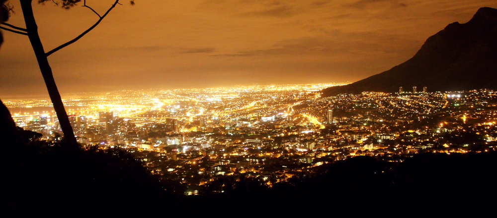 Beautiful City View from Signal Hill at night