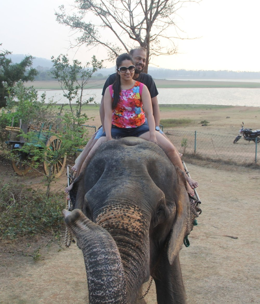 Elephant Ride on the banks of Kabini