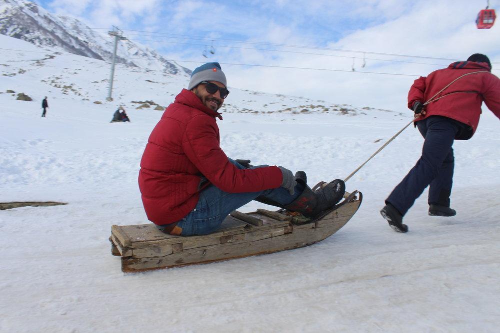 Human sleigh