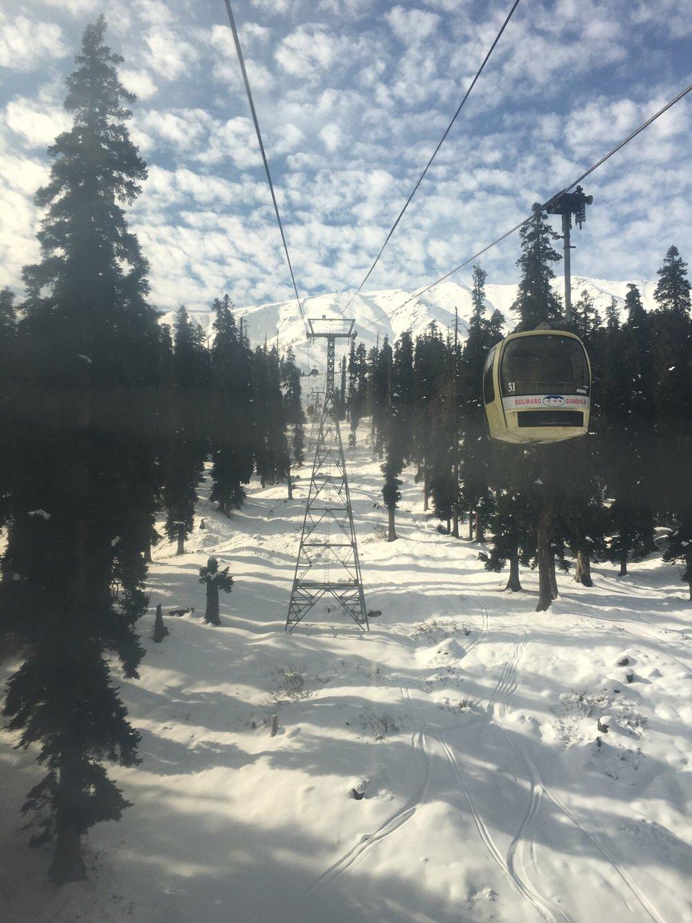 Gondola Ride to take you up the mountains
