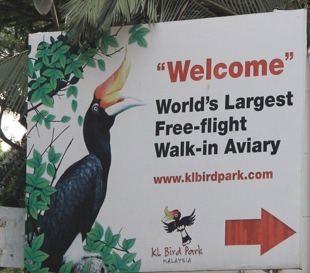 KL Bird Park entry