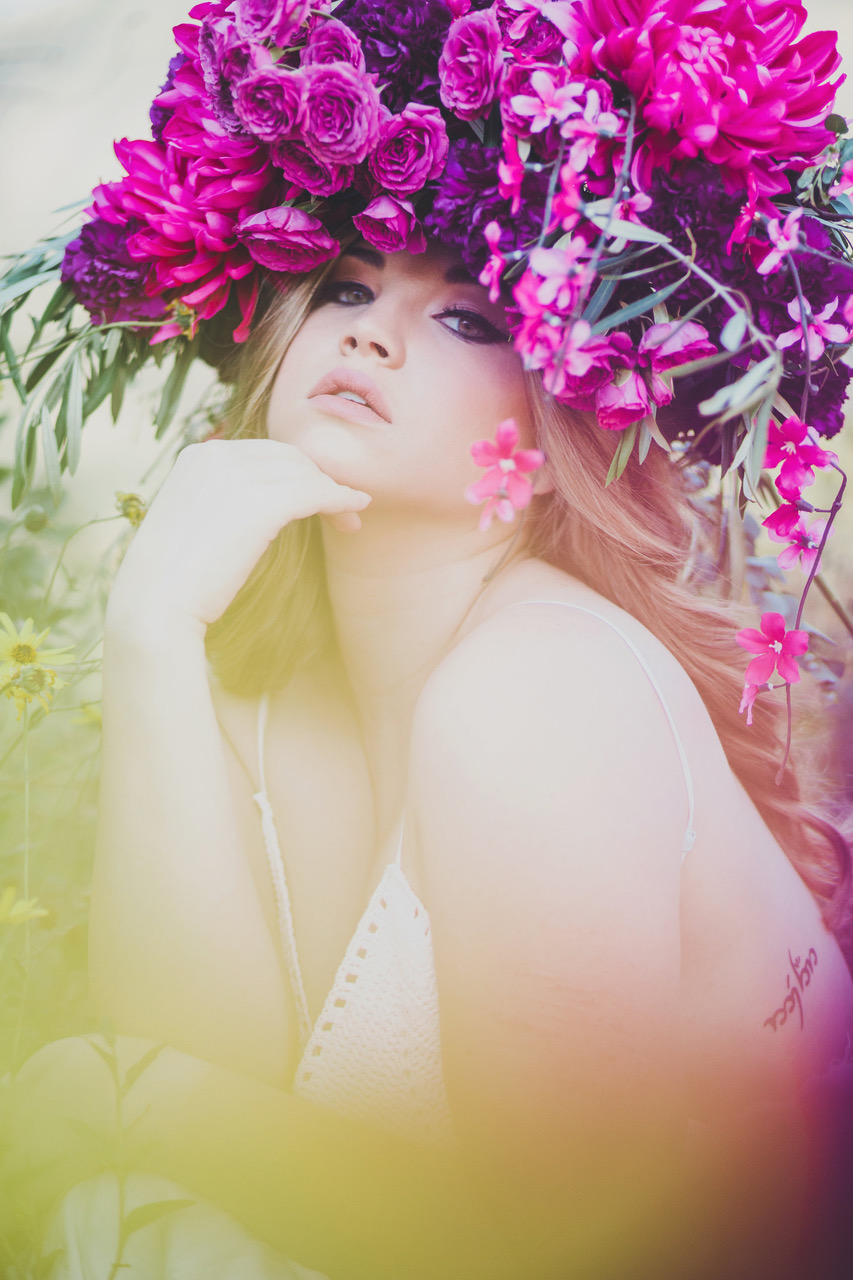 bright pink floral headpiece #lrqcfloral #floralheadpiece
