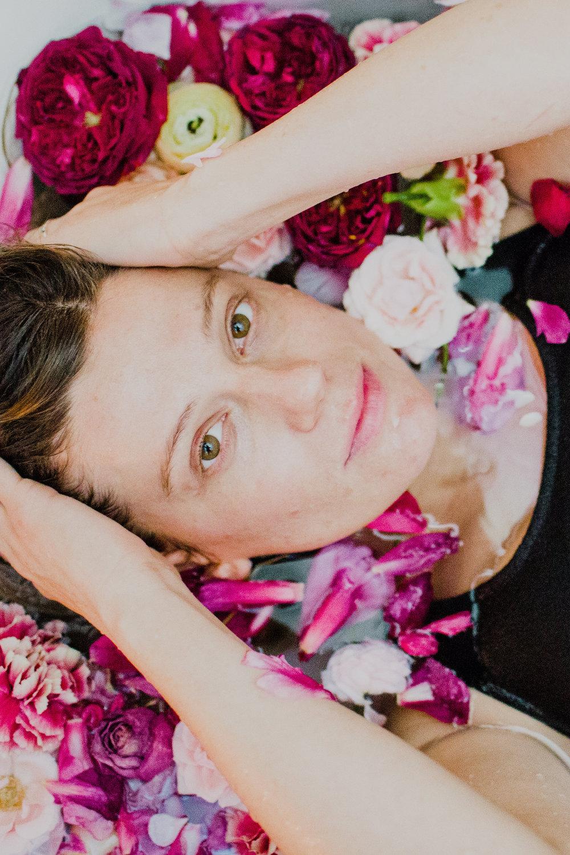 floral bath shoot #lrqcfloral #floralbath
