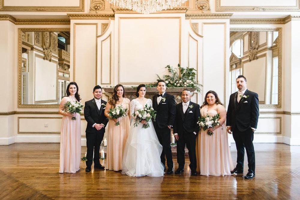alexandria ballroom bridal party #LRQCfloral.jpg