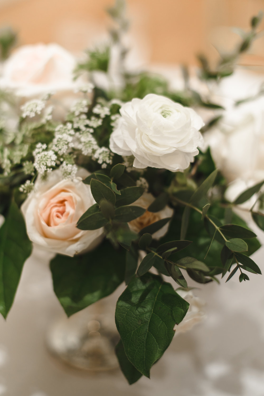 blush and cream centerpiece #lrqcfloral #dtlawedding .jpg