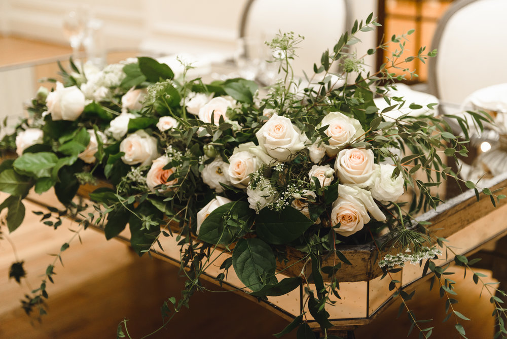 blush and cream sweetheart table florals #lrqcfloral #sweethearttable.jpg .jpg