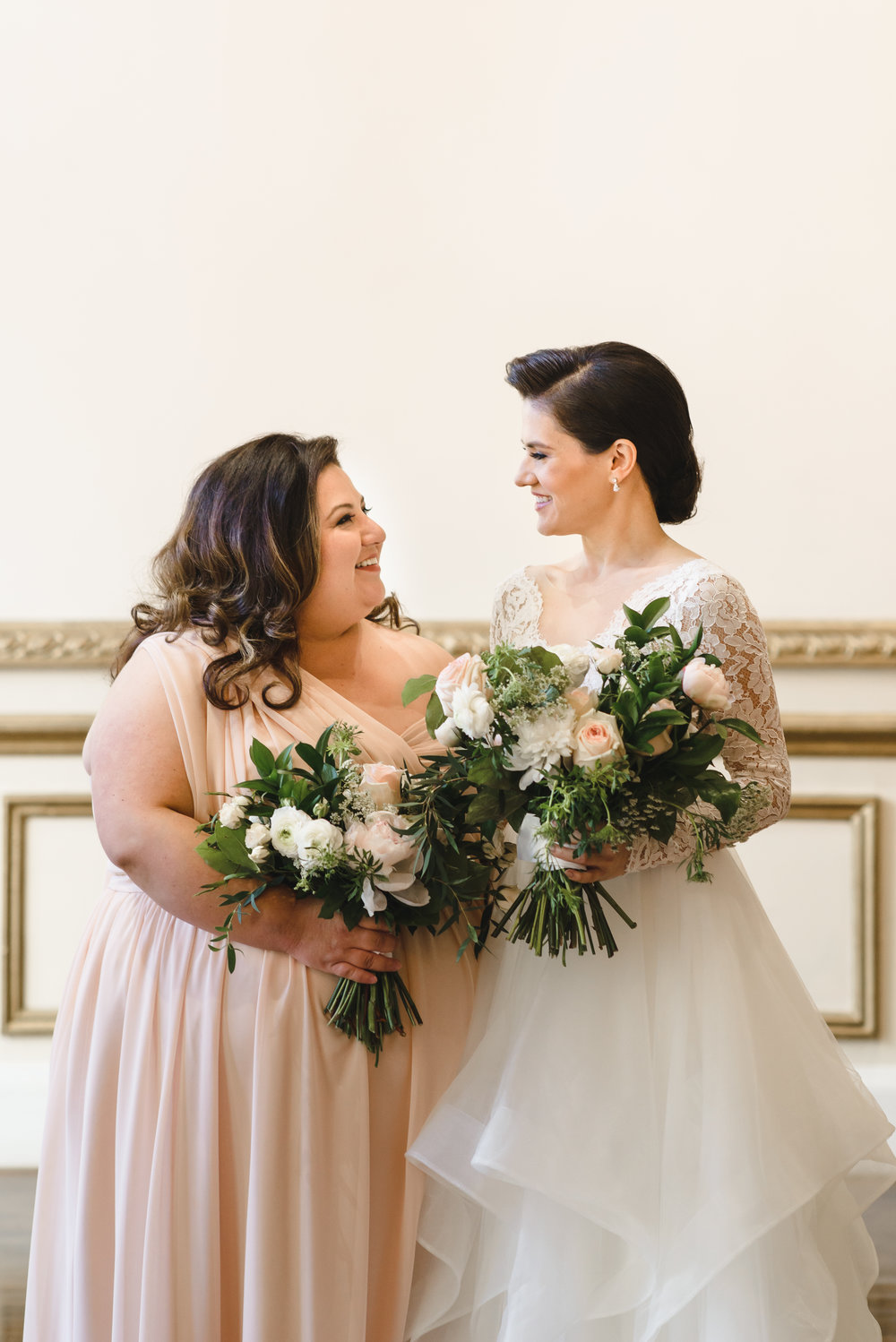 blush and white bouquets for wedding in DTLA  #LRQCfloral .jpg