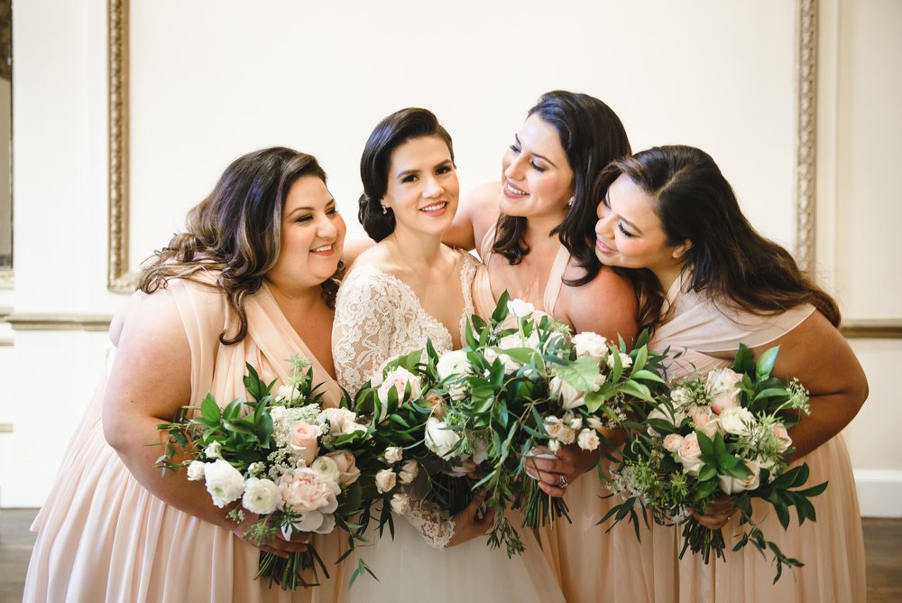 blush bridesmaids with blush bouquets in downtown los angeles #dtla #lrqcfloral.jpg