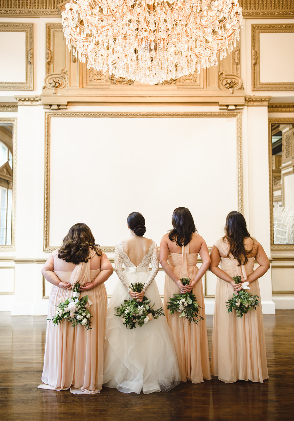 bridesmaids photo ideas with bouquets #Lrqcfloral #dtlawedding .jpg