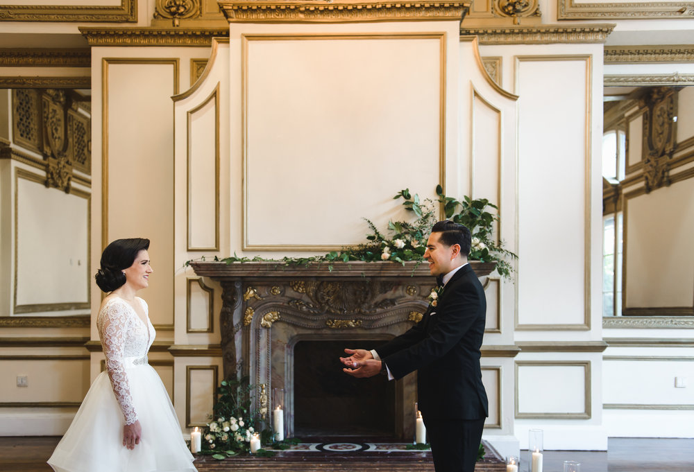 Ceremony florals on mantel .jpg