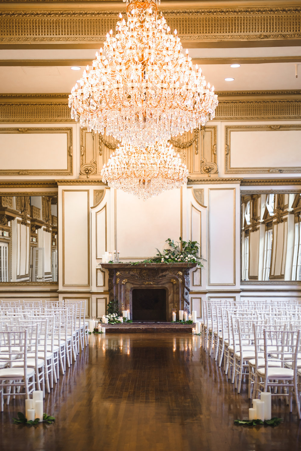 mantel florals for ceremony at Alexandria Ballroom #lrqcfloral #dtlawedding .jpg