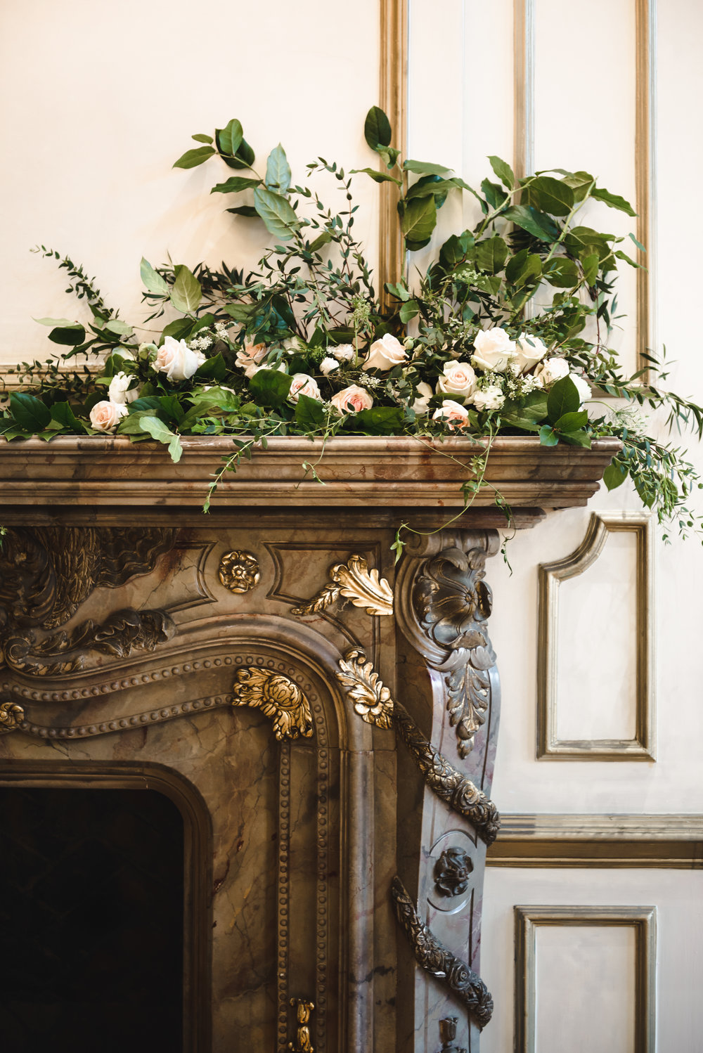 mantel florals for wedding #alexandriaballroom #lrqcfloral .jpg