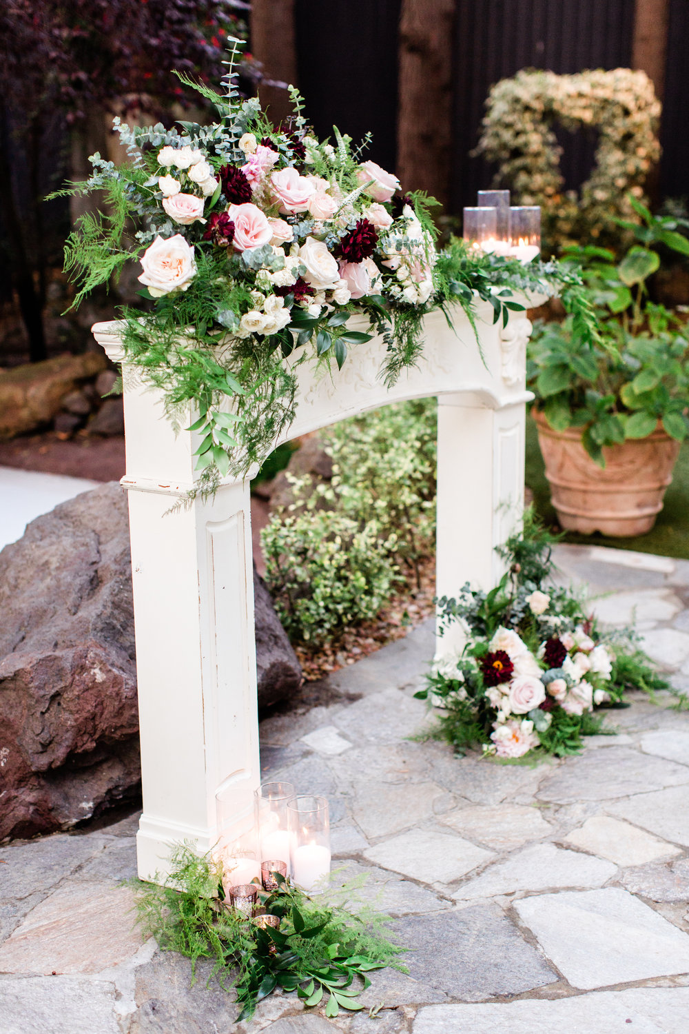 fireplace flowers at calamigos ranch.jpg