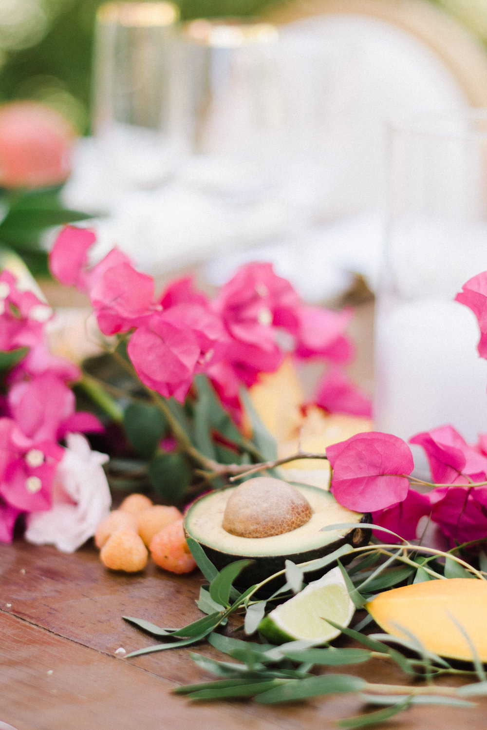 bougainvillea wedding florals and pineapple for tropical wedding .jpg