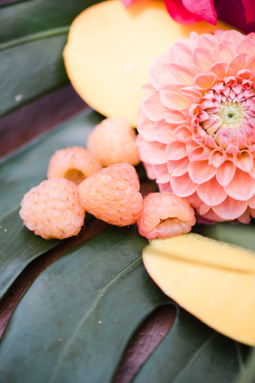 fruit with dahlias for wedding flowers.jpg