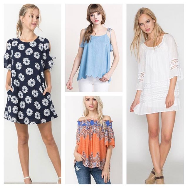 Need to update your summer wardrobe? DazzleBar has you covered! Adorable sun dresses and trendy tops perfect for warmer weather ahead! $24 - $36 message us for specific pricing.