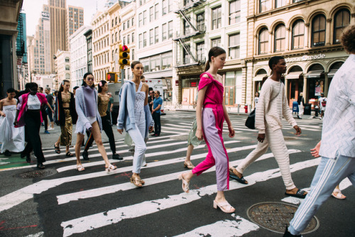 Models take to the streets of New York for Fashion Week