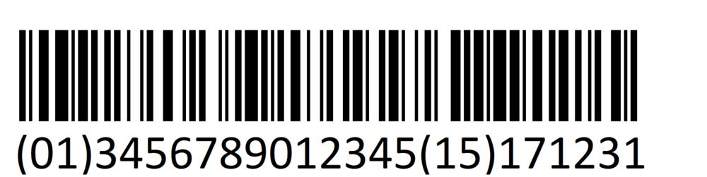 EAN128 1D Barcode