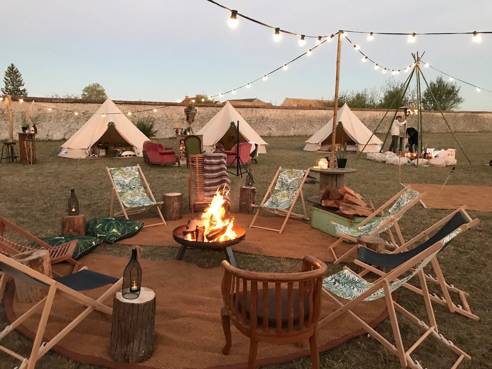 Snazzy Camp is a pop up glamping experience.. - ..for lovers of intrepid adventures but with a comfy bed to fall into at the end of the day