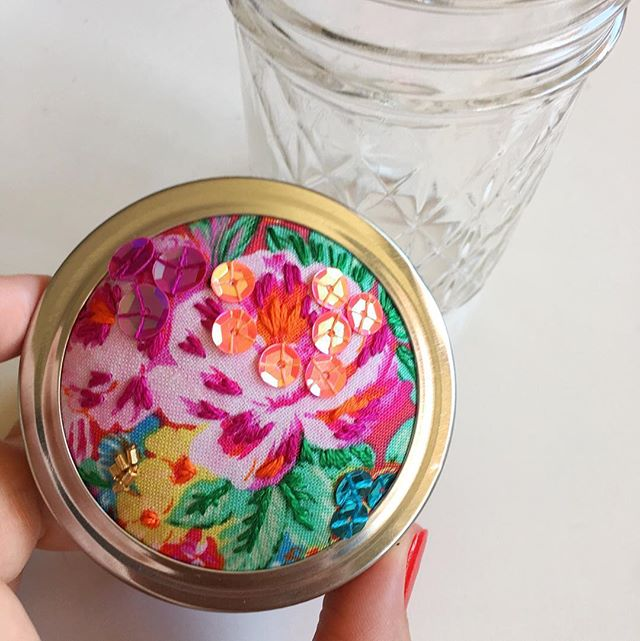 We're back with these bright beautiful babes! Full of sparkle with hand embroidery, beading and sequins, these trinket jars are just TOO cute! ❤️✨🌈
