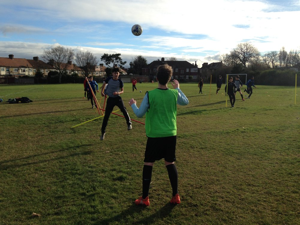 Edmonton Rangers Football Club U14s - The Cobras, training session