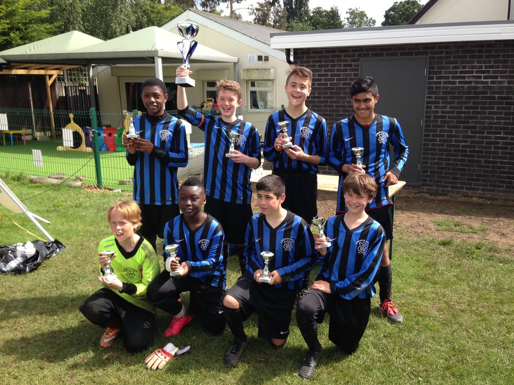 U13s Cobras winning the Whetstone Wanderers 6's tournament