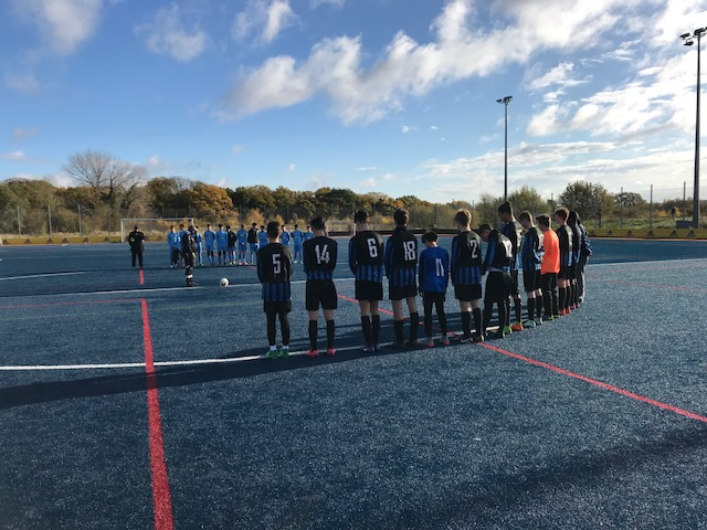 Cobras observing a minute's silence on Remembrance Day