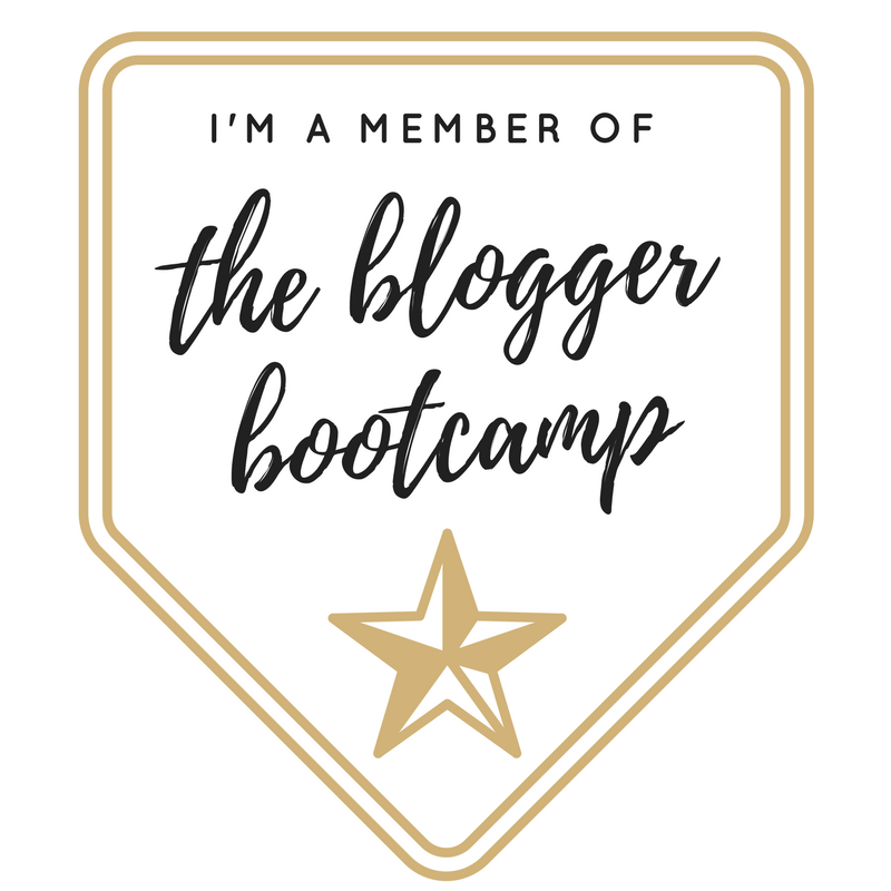 THE BLOGGER BOOTCAMP BLOGGING MEMBER BADGE